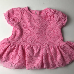 Baby Starter Pink Lace Short Sleeve Blouse
